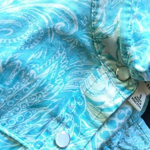 Banana Republic snap button collared shirt